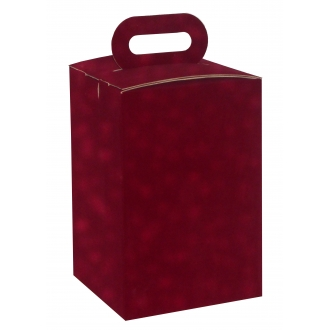 Boîte à urne en suédine